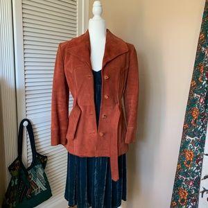 Vintage 1970s Learsi Rust Suede Jacket